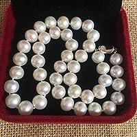 Collana di perle d'acqua dolce lucida, imperfetta/9-10mm
