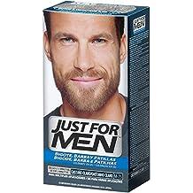 JUST FOR MEN Colorante en gel bigote barba y patillas, castaño claro - 15 ml