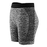 Libella Damen Leggngs Sportshorts Kurze Sporthose Laufhosen Yoga Tight Shorts Sommer Fitness 4139 Schwarz S/M