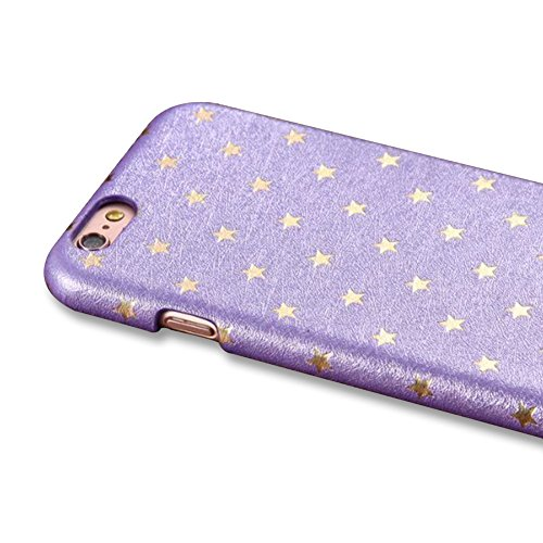 per Apple iPhone 7 Plus (5.5) Custodia Cover,Herzzer Mode Creativo Elegante Star Hard PC Blu Stelle Bumper caso,Protettiva 360 Gradi Anti-Scratch Case cover per iPhone 7 Plus (5.5) + 1 x Gratuito Ba Viola