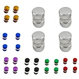#6: MagiDeal 24 Pieces Car Truck Aluminum Tire/Rim Valve/Wheel Air Port Cover Stems Caps