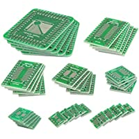 QLOUNI 40Pcs PCB Board Kit Double Sided SMD Tower para DIP IC PCB Converter Board para Bricolaje y Pruebas Técnicas 8 Tamaños