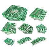 QLOUNI 40Pcs carte PCB Board Kit, double face SMD tour à DIP IC PCB Converter Board pour DIY et tests techniques - 8 tailles...