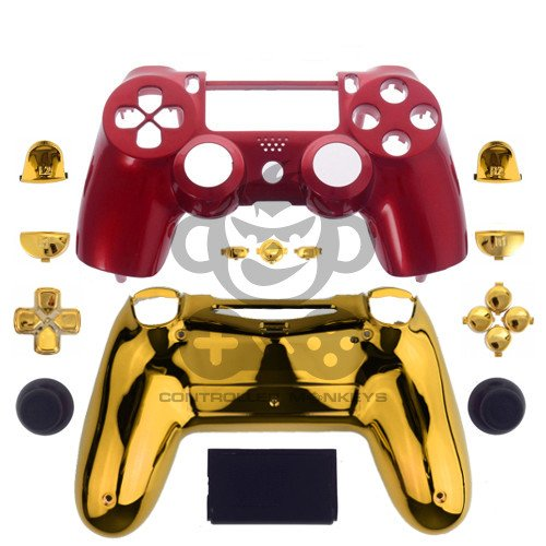 PS4 Controllergehäuse inkl. Mod Kit - Iron Man (Modell-nummer 3 Playstation)