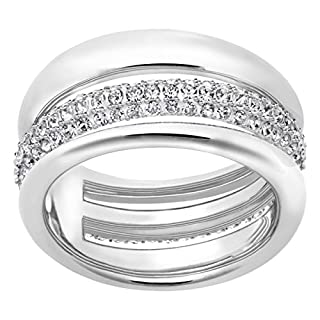 Swarovski Exact Ring, Weiss Rhodiniert