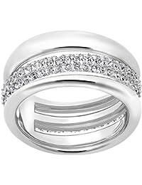 Swarovski Damen-Ring Exact silber rhodiniert Kristall weiß - 52215