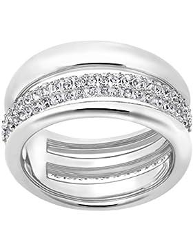 Swarovski Exact Ring, weiss, rhodiniert
