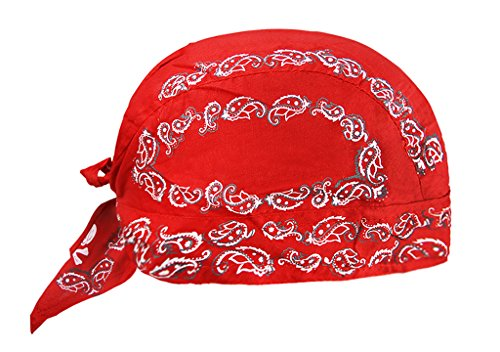 RUIXIB Sports Bandana Cap Herren Piratentuch Damen Baumwolle Kopftuch Hut Hip Hop Cap Outdoor Stirnband UV Schutz Mütze für Fahrrad Radsport Motorrad