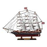 SAFETYON Holzschiff Modelle, Holz Segelboot Holzmodell, Black Pearl Ship Startseite Modell Dekoration Boot Geschenk, Holzmodell Kit Spielzeug