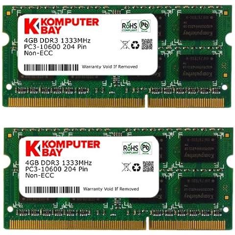 Komputerbay - Memoria RAM (1333 MHz, SO-DIMM, 2 unidades) 8GB (2x 4GB) for Apple