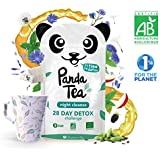 Panda Tea - Night Cleanse - Thé & infusions detox certifié bio - 28 sachets - anti-ballonnements et ventre plat
