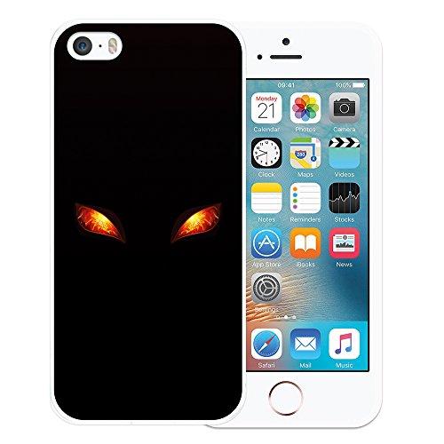 iPhone SE iPhone 5 5S Hülle, WoowCase Handyhülle Silikon für [ iPhone SE iPhone 5 5S ] Ethnischer Löwe Handytasche Handy Cover Case Schutzhülle Flexible TPU - Transparent Housse Gel iPhone SE iPhone 5 5S Transparent D0093