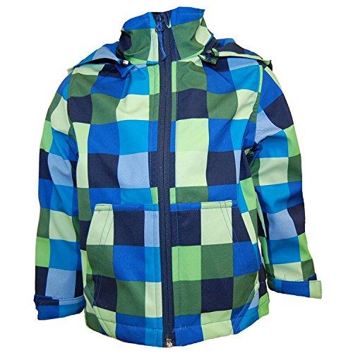 Outburst - Softshelljacke Funktionsjacke Jungen Wasserabweisend, Blau Grün, Größe 110