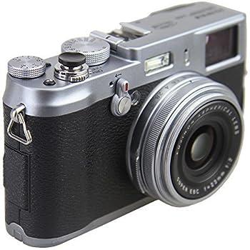 5cb24c9f2aac2 JJC Bouton de Déclenchement D obturateur Souple Métallique de Couleur Noir  Convexe pour Leica Fujifilm