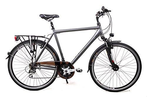 "28\"" Zoll Alu Herren MIFA Trekking Fahrrad Shimano 24 Gang Nabendynamo Rh 60cm grau"