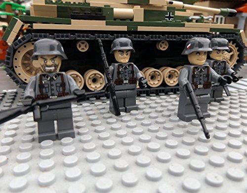 Modbrix 8819 - ✠ 2 Stück Custom Minifiguren Deutsche Wehrmacht Afrika Korps Soldaten aus original Lego® Teilen ✠ thumbnail