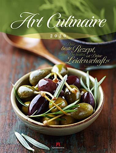 Art Culinaire 2020, Wandkalender mit Zitaten im Hochformat (50x66 cm) - Lifestyle-Kalender für Küche und kulinarische Gourmets mit Monatskalendarium - Le Gourmet-küche