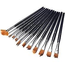 Leadstar pinceles de pintura 12pieza brochas pinceles para pintura de aceite, la acuarela, acrílico pintura, y la aguada