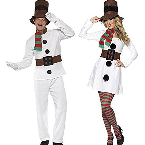 iebespaar Weihnachtskostüm Schneemannkostüm Winterkostüm Schneemann Winter Damen und Herren ()