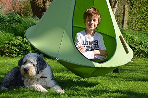 Cacoon Kinder Bonsai Leaf Green grün Hängematte Hängesessel Sonnenschutz Gartenmöbel Relaxliege Hängeliege Outdoor Indoor Garten Kinderliege Kindersessel Kinderzimmermöbel