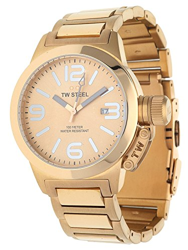 TW Steel Women's Watch Quartz Stainless Steel Rosegold Canteen Style TW-303