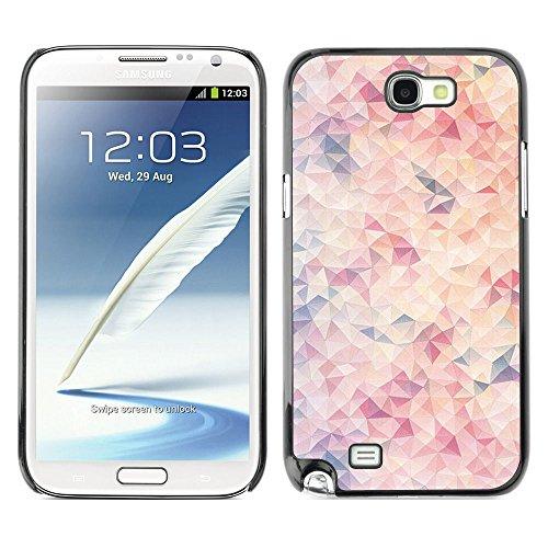 GooooStore/Dura Custodia Rigida della copertura della cassa - Pattern Blue Peach Pink - Samsung Galaxy Note 2 N7100 - 2 ° Fast Peach