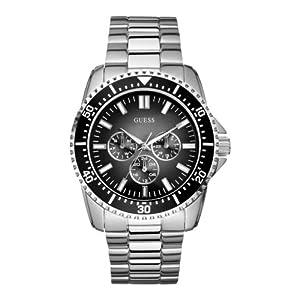 Reloj Guess W10245G4 de cuarzo para hombre con correa de acero inoxidable, color plateado de Guess