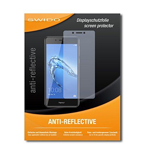 SWIDO Schutzfolie für Huawei Honor 6C [2 Stück] Anti-Reflex MATT Entspiegelnd, Hoher Härtegrad, Schutz vor Kratzer/Bildschirmschutz, Bildschirmschutzfolie, Panzerglas-Folie