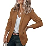 Tomwell Donna Blazer Maniche Lunghe Aperto Davanti Colletto Cappotto Elegante Ufficio Business Blazer Party Top con 1 Bottone