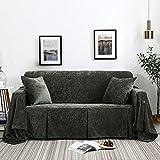 Flanell Sofa Handtuch Couchbezug, Möbel Protector Case Mit Rock Sessel Loveseat Komfortabel Weiche Dauerhafte Sofa Schonbezug 1-Teilig,200x150cm