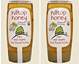 (2 Pack) - Hilltop Honey - Raw Organic Lime Flower Honey   370g   2 PACK BUNDLE