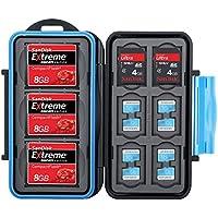 Flashwoife Turtle-CF3SD6MSD12 wasserdichte Speicherkarten Schutzbox für 3x CF, 6x SDHC und 12x MicroSD patentierte Aufnahme, Cards Case in schwarz/blau