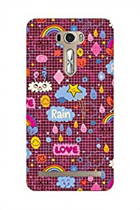 ZAPCASE Printed Back Case for ASUS ZENFONE 2 LASER 601