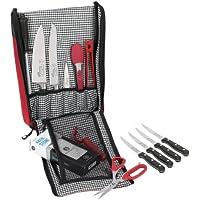 Estuche acolchado para cuchillos Messermeister, con 8 bolsillos, ciruela (eficiencia energética 0), poliéster, Rojo, 6-Pocket
