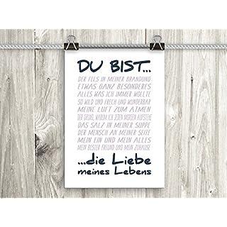artissimo, Poster mit Spruch, Din A4, PE0063-DR, Du bist..., Bild mit Spruch, Spruchbild, Wandbild, Plakat, Kunstdruck, Zitat, Sprüche, Wanddekoration