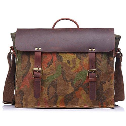 DJB/ Schulter Tasche Messengerbag Camo für Männer und Frauen army green