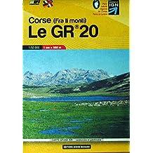 Carte en poche Corse : le GR20