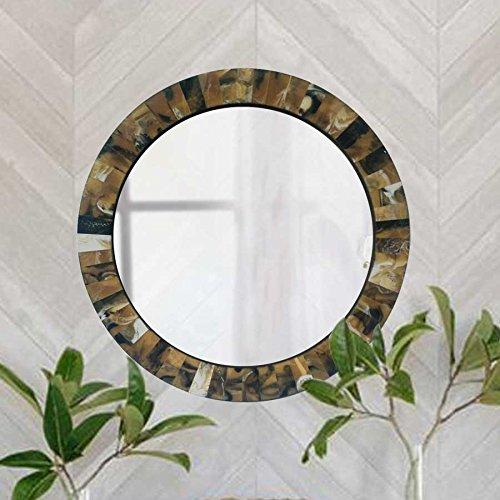 Round Horn Bone Mirror Frame
