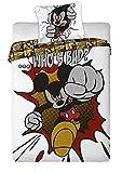 Unbekannt Faro Disney Mickey Mouse Maus Bettwäsche 160x200 cm Öko Tex 100 Baumwolle, Mehrfarben, 200 x 160 cm