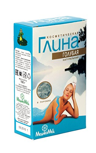 Tonerde Blau (kosmetische Lehm), 100g/ глина косметическая голубая