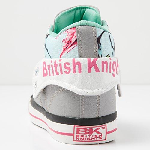 British Knights Roco, Sneaker Alte Donna GRIGIO CHIARO/MENTA/FIORATO