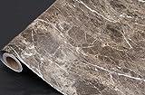 Dunkel Braun Granit Look Marmor Glänzende Folie Vinyl selbstklebend Counter Top Abziehen und Aufkleben Wand Aufkleber 61x 200,7cm