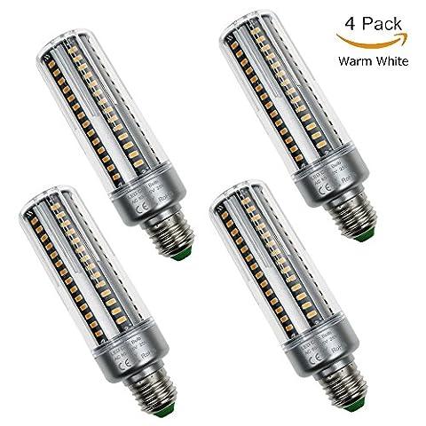 Usboo 4-Pack LED Maïs Ampoule 20W à culot à vis 25W E27économie d'énergie ampoules LED 2700–7000K économie d'énergie Maïs Ampoule Lumière du jour AC 85–265V