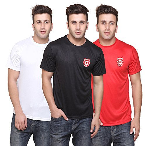 T10Sports IPL KXIP Jersey (Medium) - Pack of 3