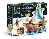 Clementoni- Play Creative-Il Galeone del Pirata, Multicolore, 18549