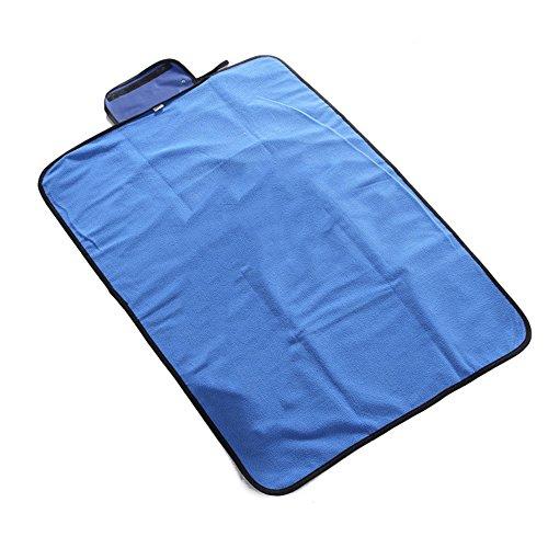YULAN-Faltbare Haustier Matte Outdoor Tragbare Wasserdichte Hundematte Regensichere Decke für Kleine Mittelgroße Hunde & Katzen. (BlueM)