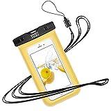 YOSH Pochette Étanche Housse Coque Étanche pour iPhone X 8 7 6S 6 Plus Samsung Galaxy S8 S7 S6 Edge Smartphones Universel Jusqu'à 6 Pouces [Garantie à Vie] (Jaune) …