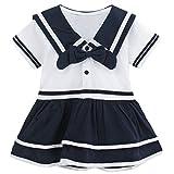 Mombebe Baby Mädchen Kleid Matrose Body Kleider (Matrose, 12-18 Monate)