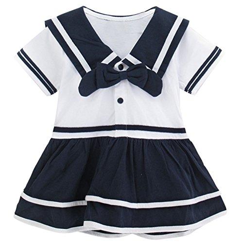 Mombebe Baby Mädchen Kleid Matrose Body Kleider (Matrose, -