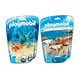 PLAYMOBIL Family Fun set en 2 parties 9066 9069 octopus avec bébé + sceller avec bébé